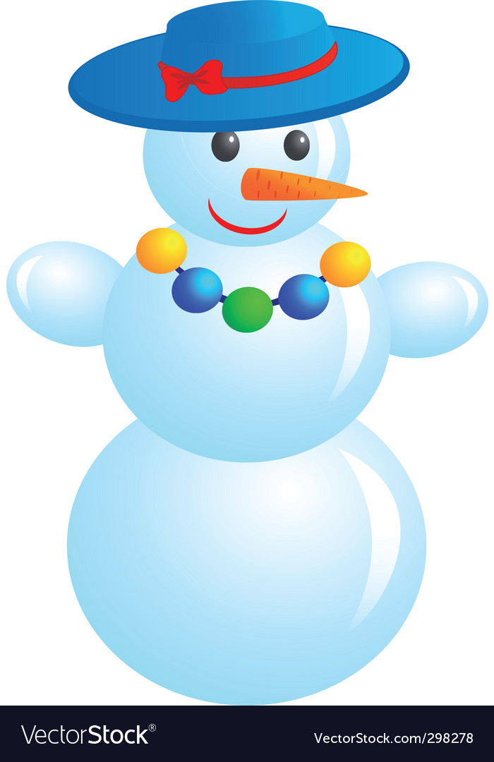 Fashion snowman vector | Price: 1 Credit (USD $1)