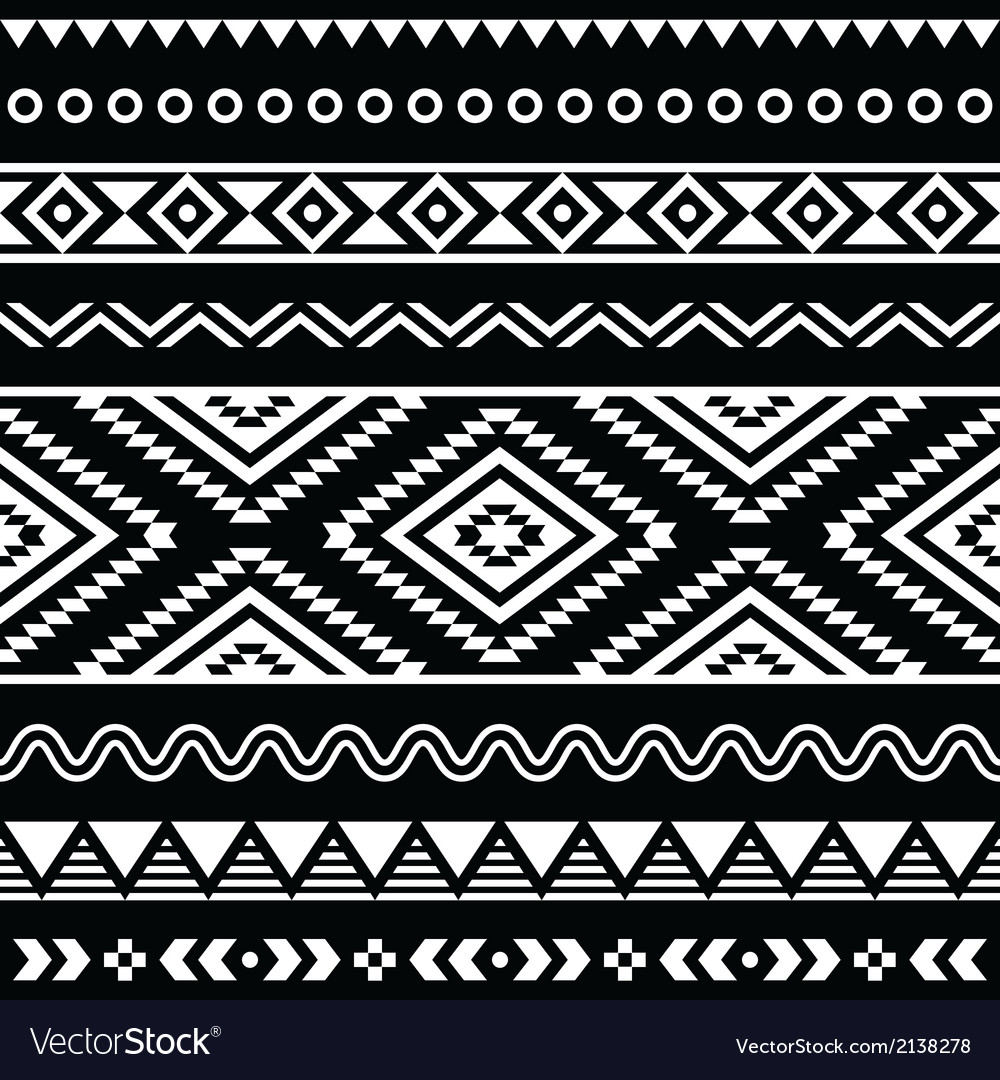 Folk seamless aztec ornament pattern vector | Price: 1 Credit (USD $1)