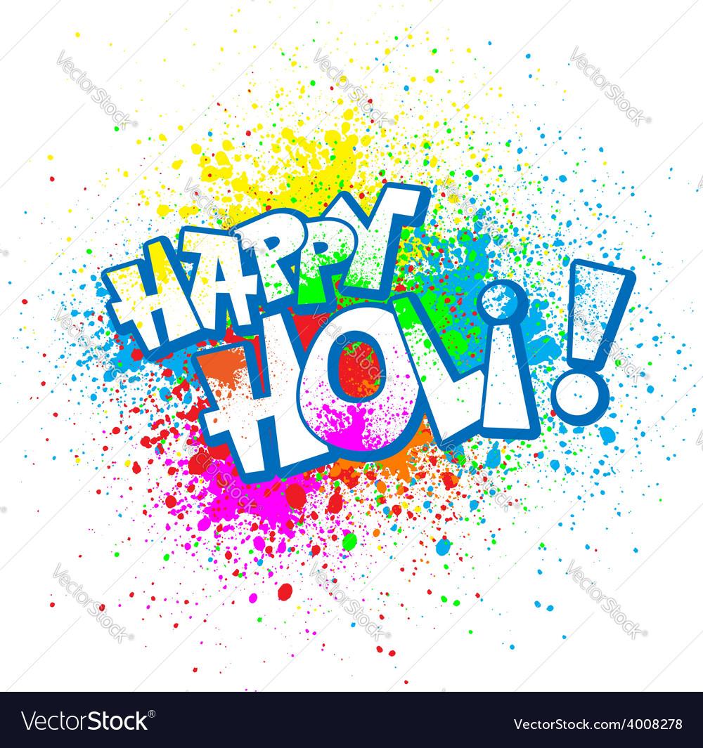 Holi vector | Price: 1 Credit (USD $1)