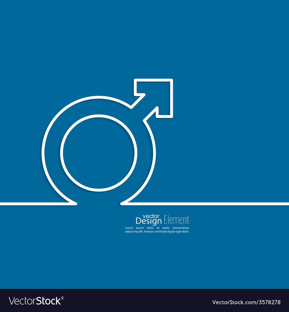 Male symbol of the tape vector | Price: 1 Credit (USD $1)