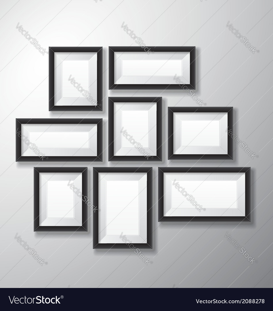 Picture frames black variety vector | Price: 1 Credit (USD $1)
