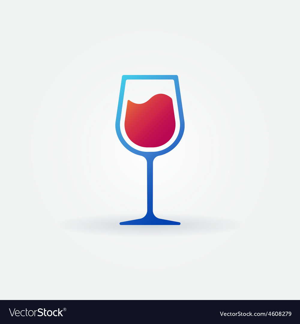 Blue glass of red wine icon vector   Price: 1 Credit (USD $1)