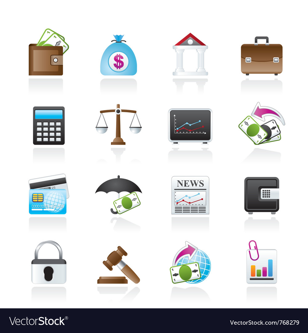 Business and finance icons vector | Price: 3 Credit (USD $3)