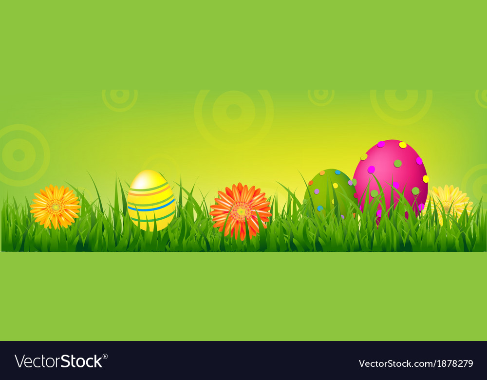 Color happy easter banner vector | Price: 1 Credit (USD $1)