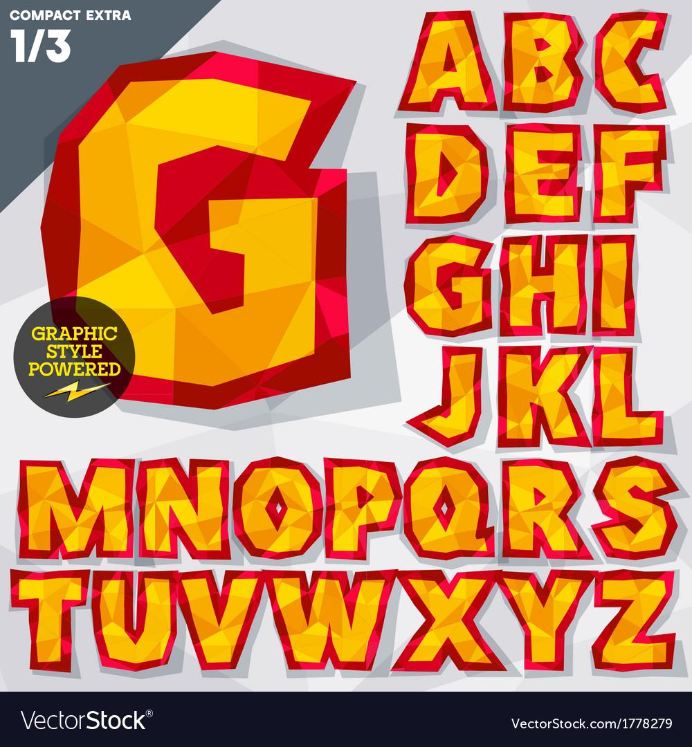 Crumpled paper alphabet vector | Price: 1 Credit (USD $1)