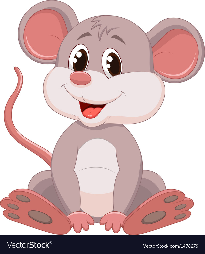 Cute mouse cartoon vector | Price: 1 Credit (USD $1)