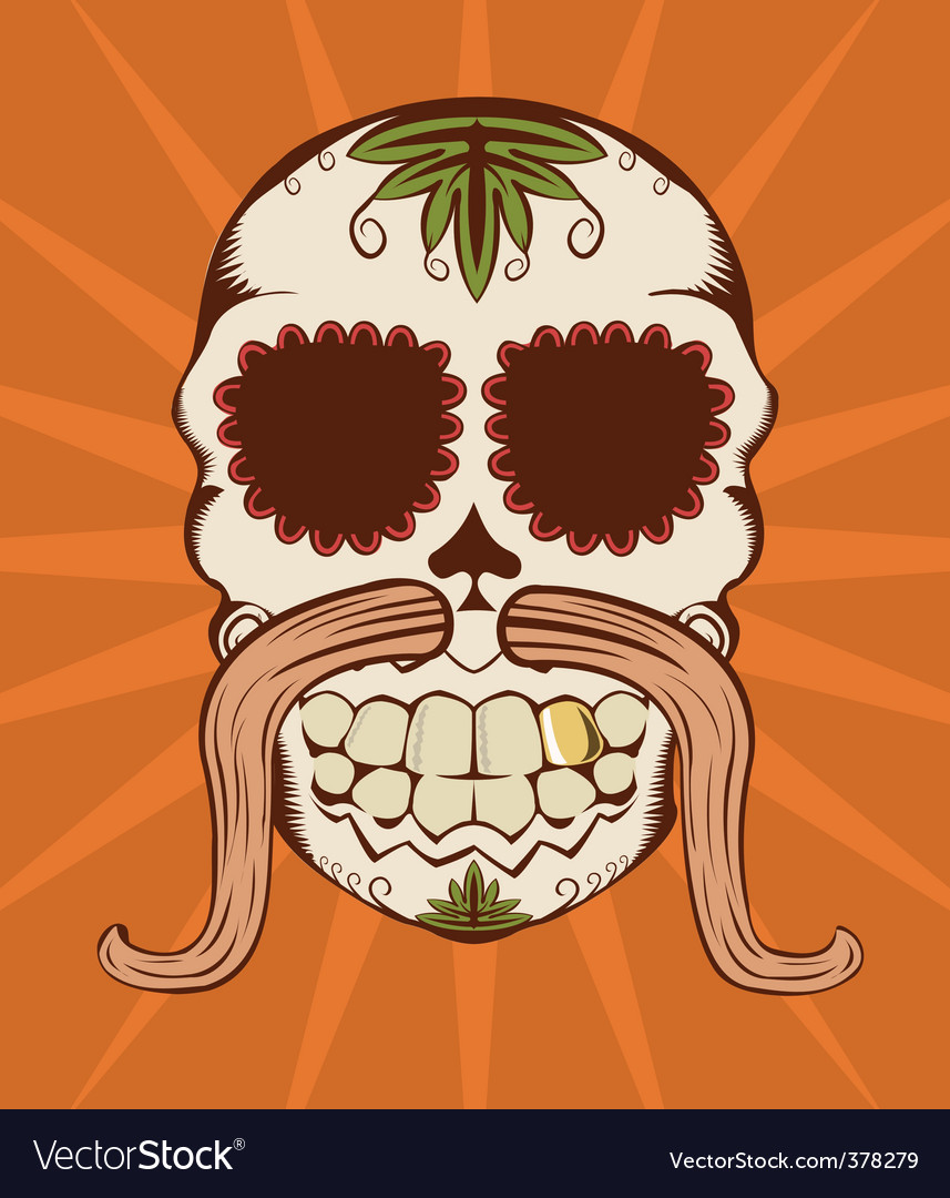 Decorative sugar skull vector | Price: 1 Credit (USD $1)
