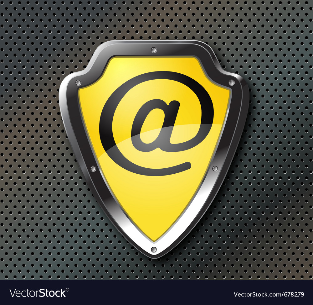 Email protection shield vector | Price: 1 Credit (USD $1)
