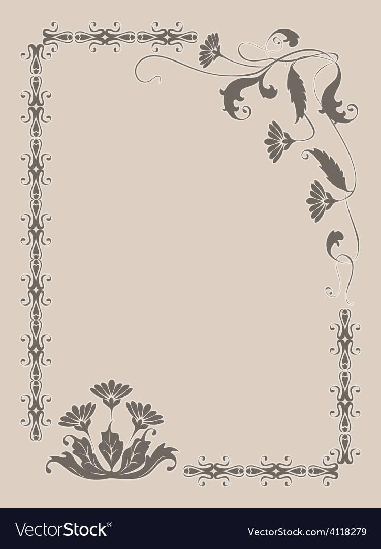 Frame flower ornament vector   Price: 1 Credit (USD $1)
