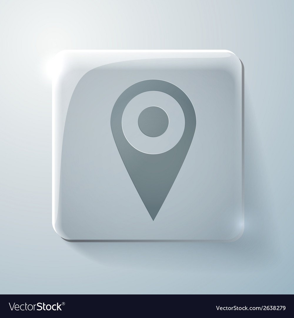 Glass icon pin location on the map vector | Price: 1 Credit (USD $1)