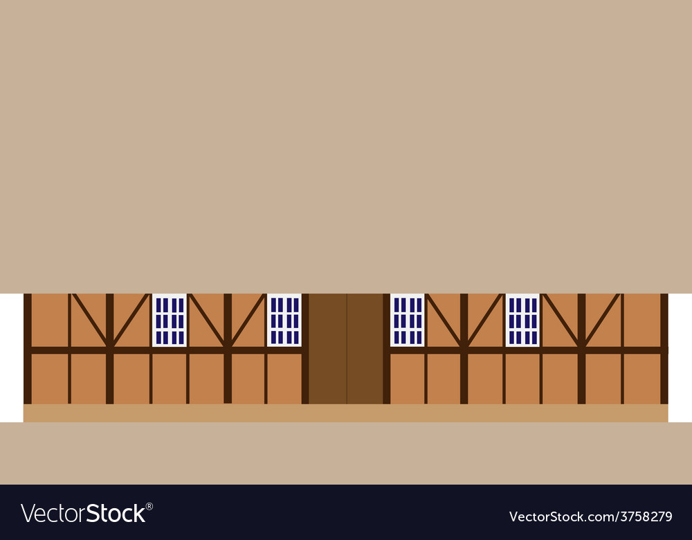 Old wooden barn vector | Price: 1 Credit (USD $1)