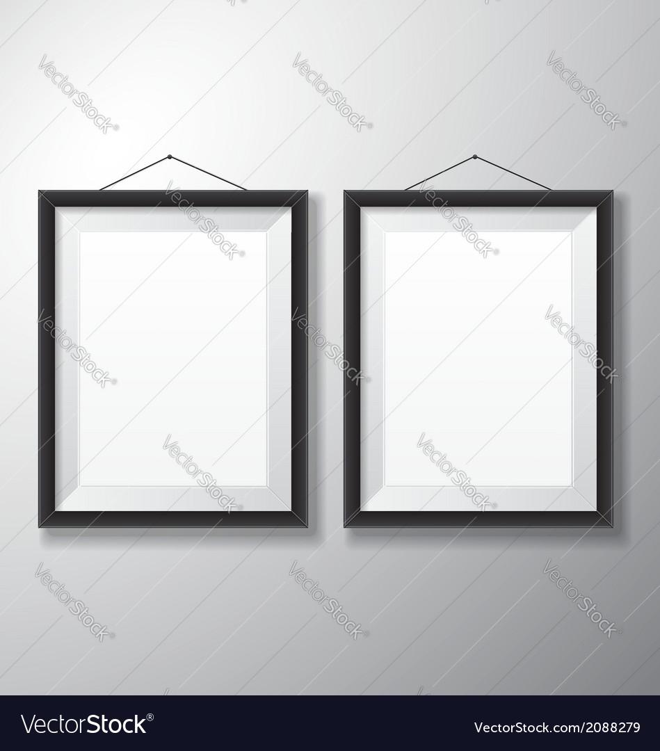 Picture frames black vertical vector | Price: 1 Credit (USD $1)