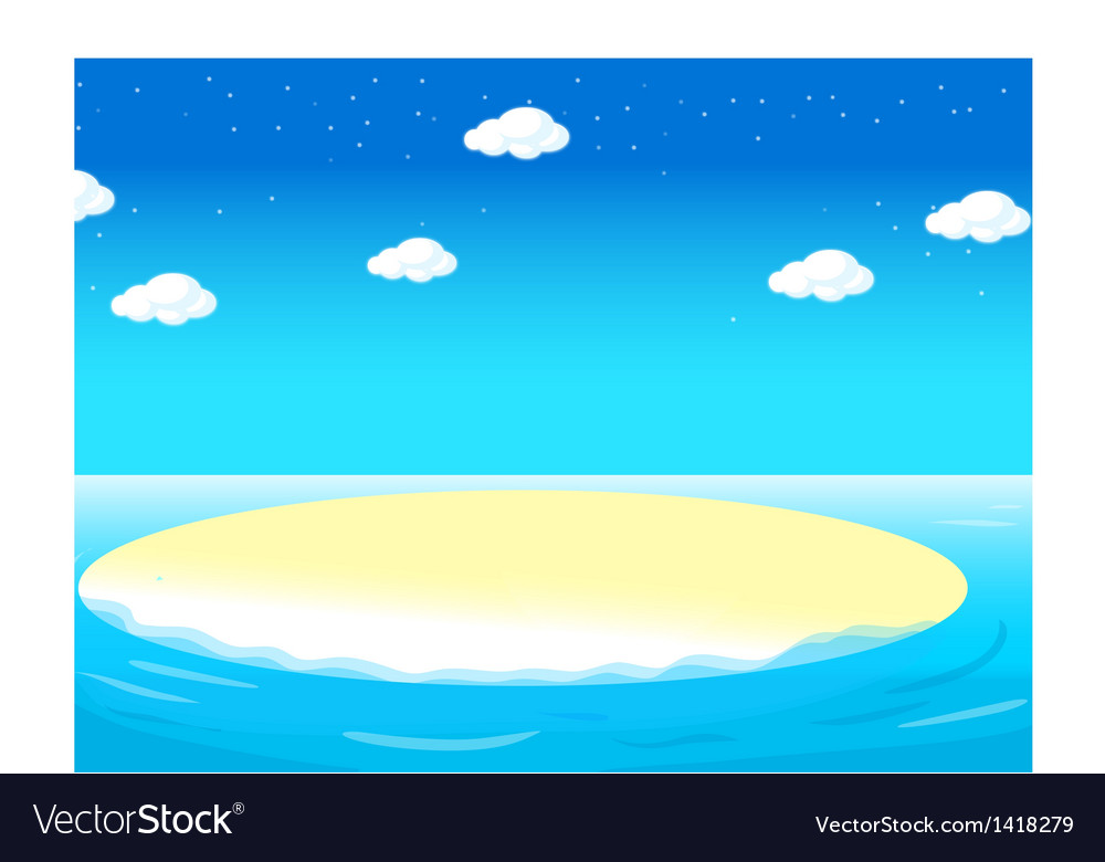Water landscape vector | Price: 1 Credit (USD $1)