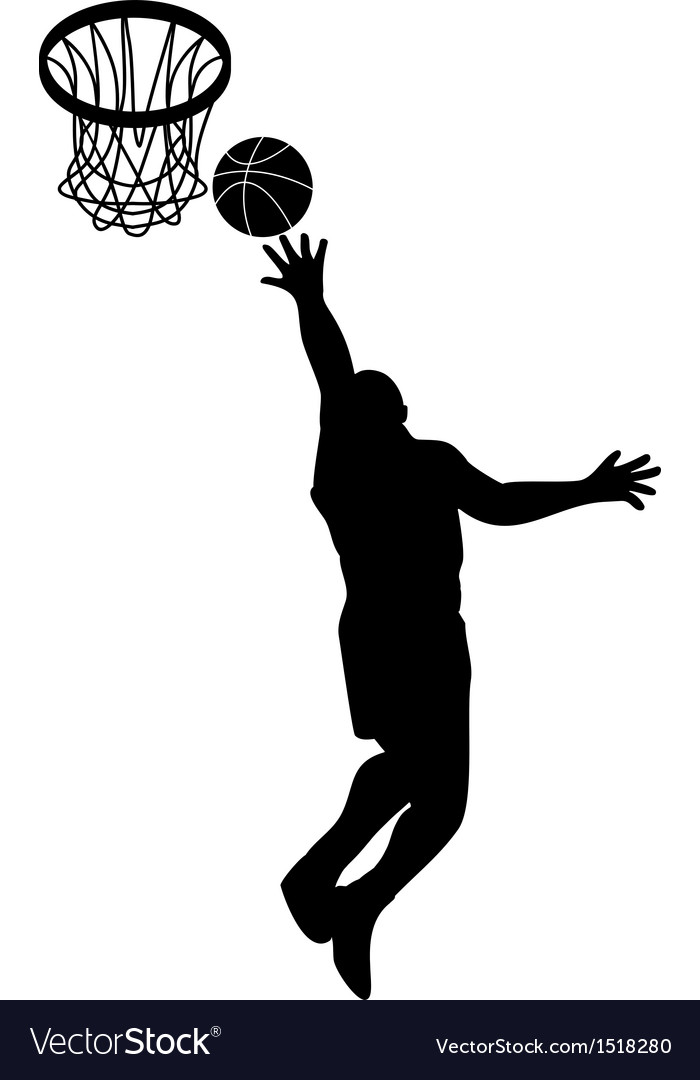 Basketball player lay-up ball shield vector | Price: 1 Credit (USD $1)