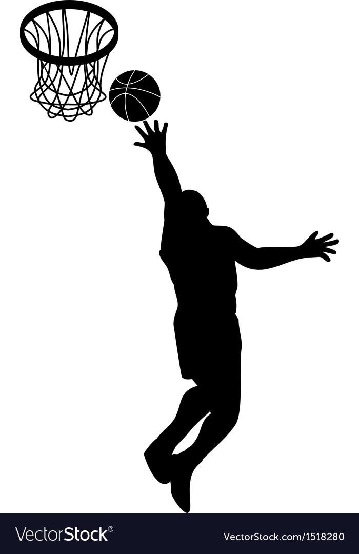 Basketball player lay-up ball shield vector | Price: 1 Credit (USD $1)