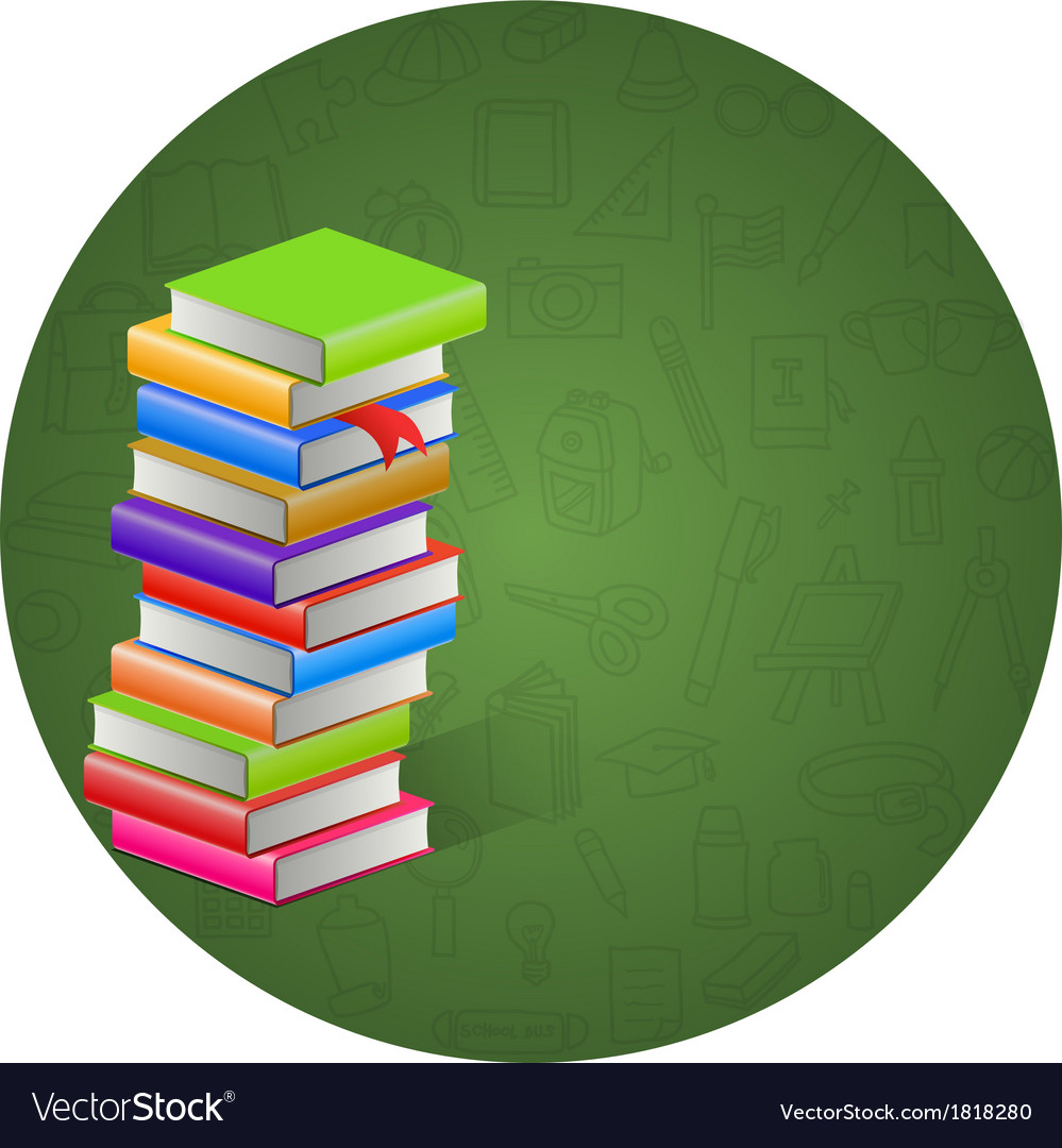 Book and circle icon background vector | Price: 1 Credit (USD $1)