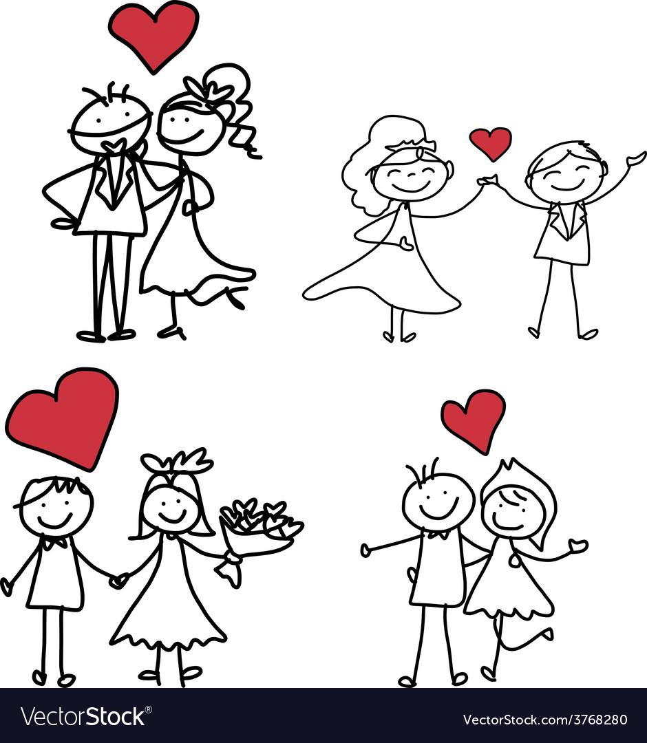 Cartoon character happiness wedding vector   Price: 1 Credit (USD $1)
