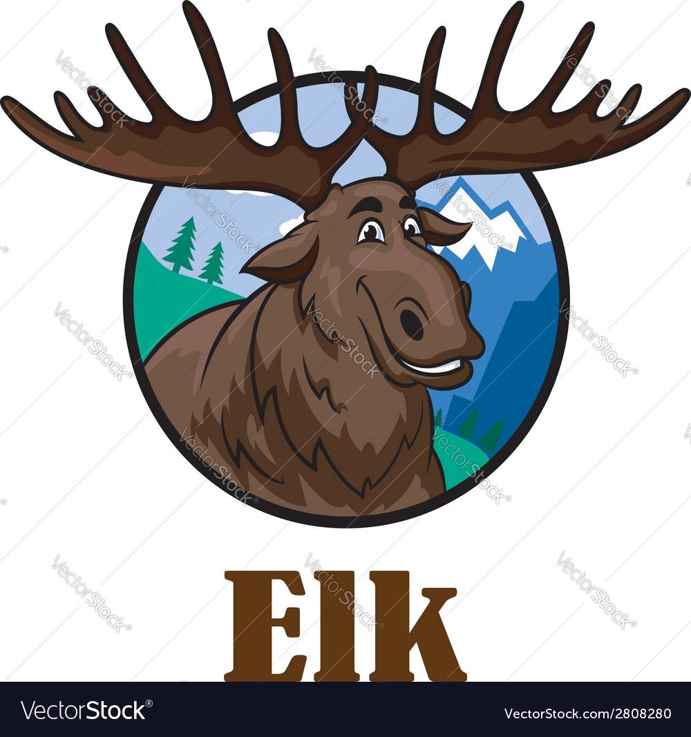 Cartoon moose or elk vector | Price: 1 Credit (USD $1)