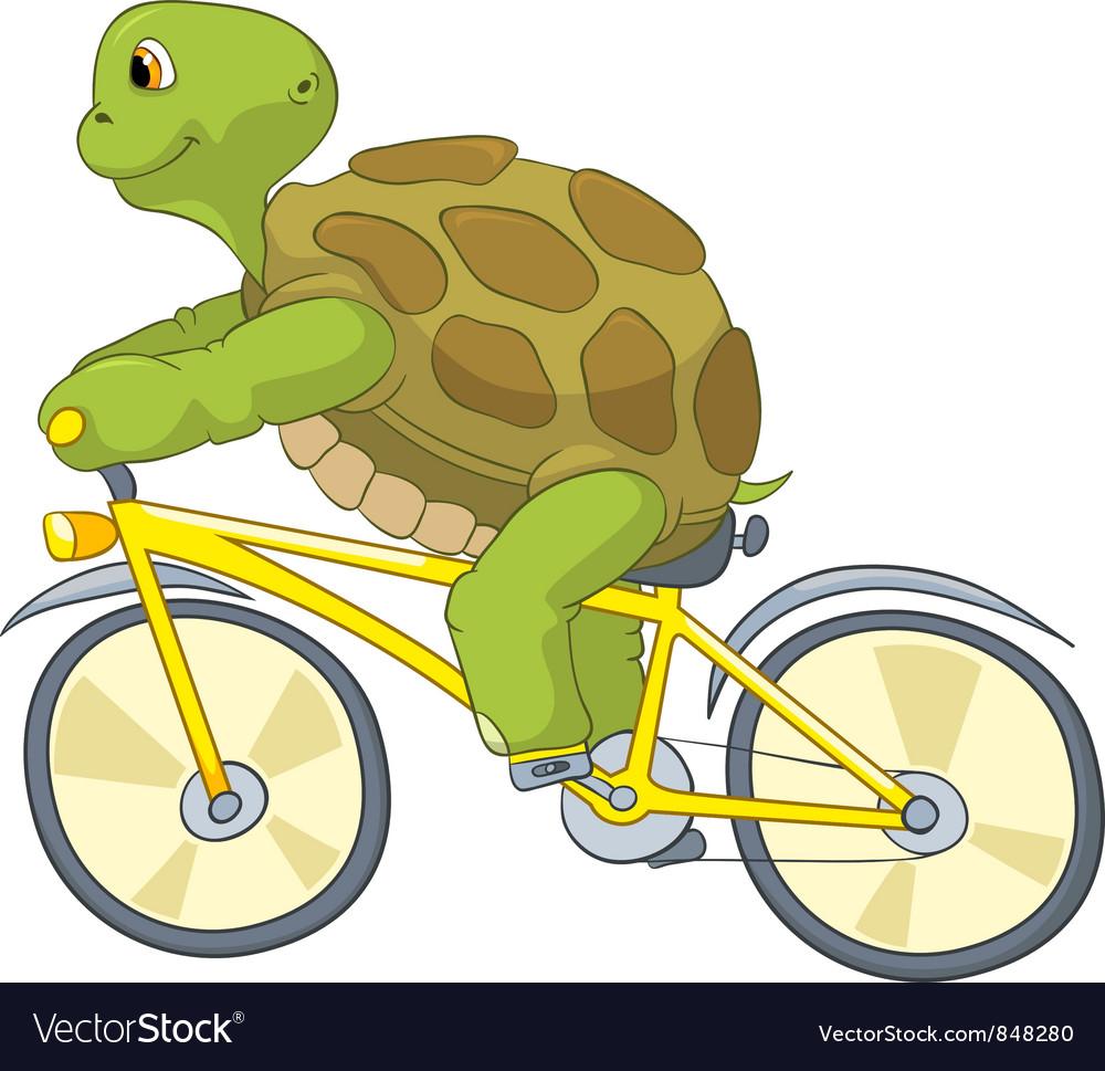 Funny turtle biker vector | Price: 3 Credit (USD $3)