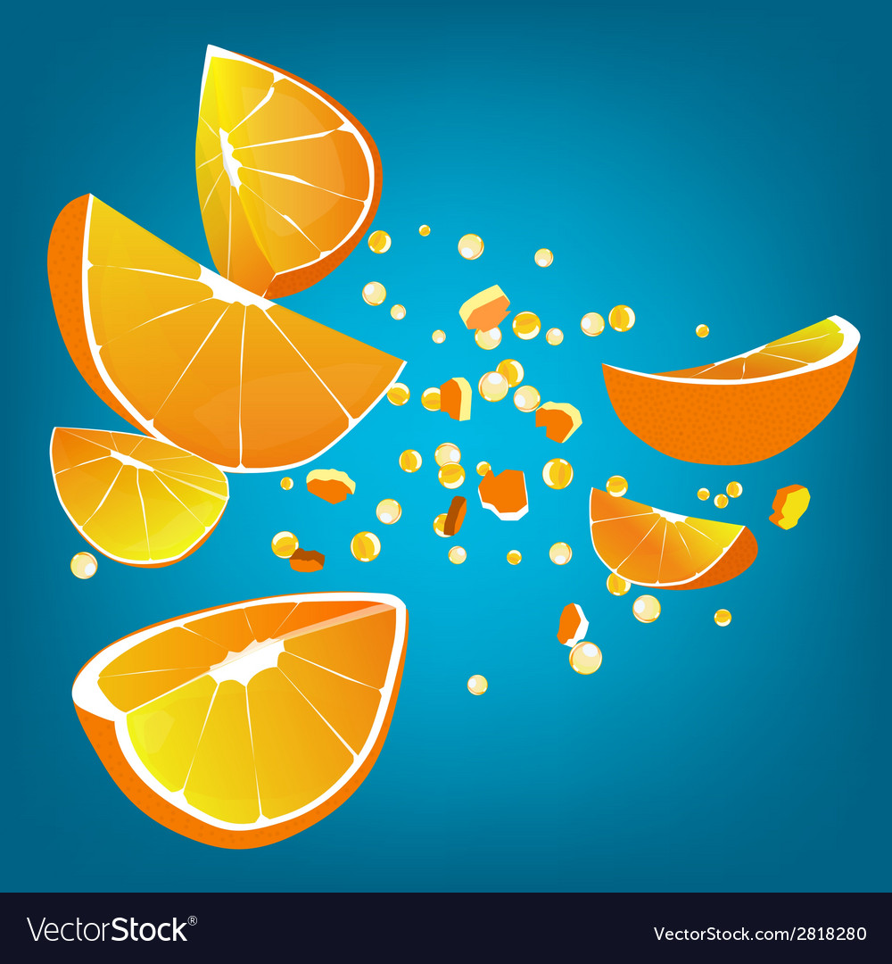 Orange explosion vector | Price: 1 Credit (USD $1)