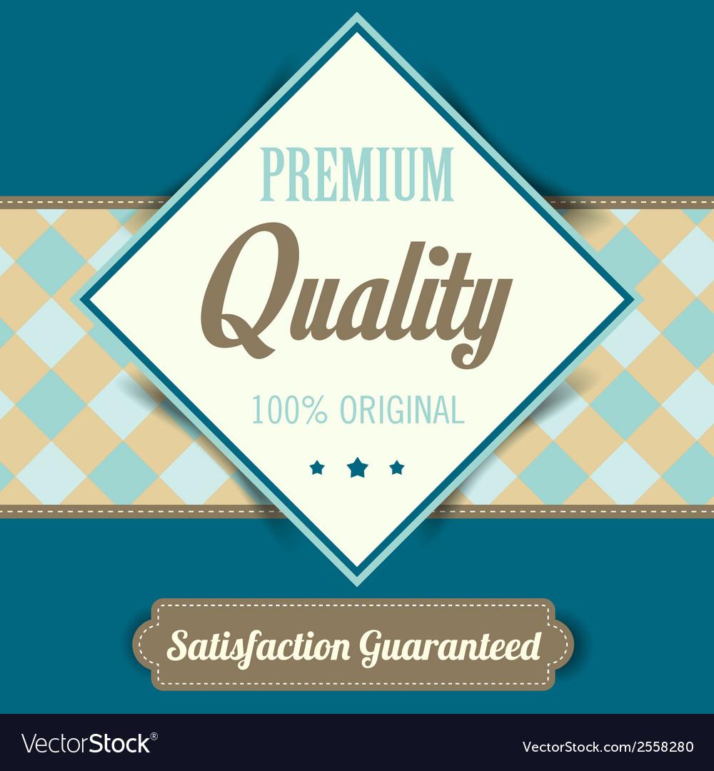 Premium quality poster retro vintage design vector | Price: 1 Credit (USD $1)