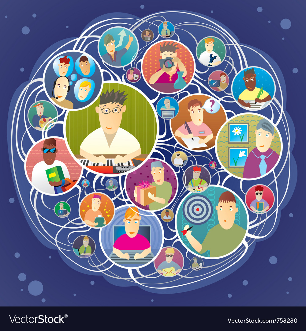 Social network vector | Price: 5 Credit (USD $5)