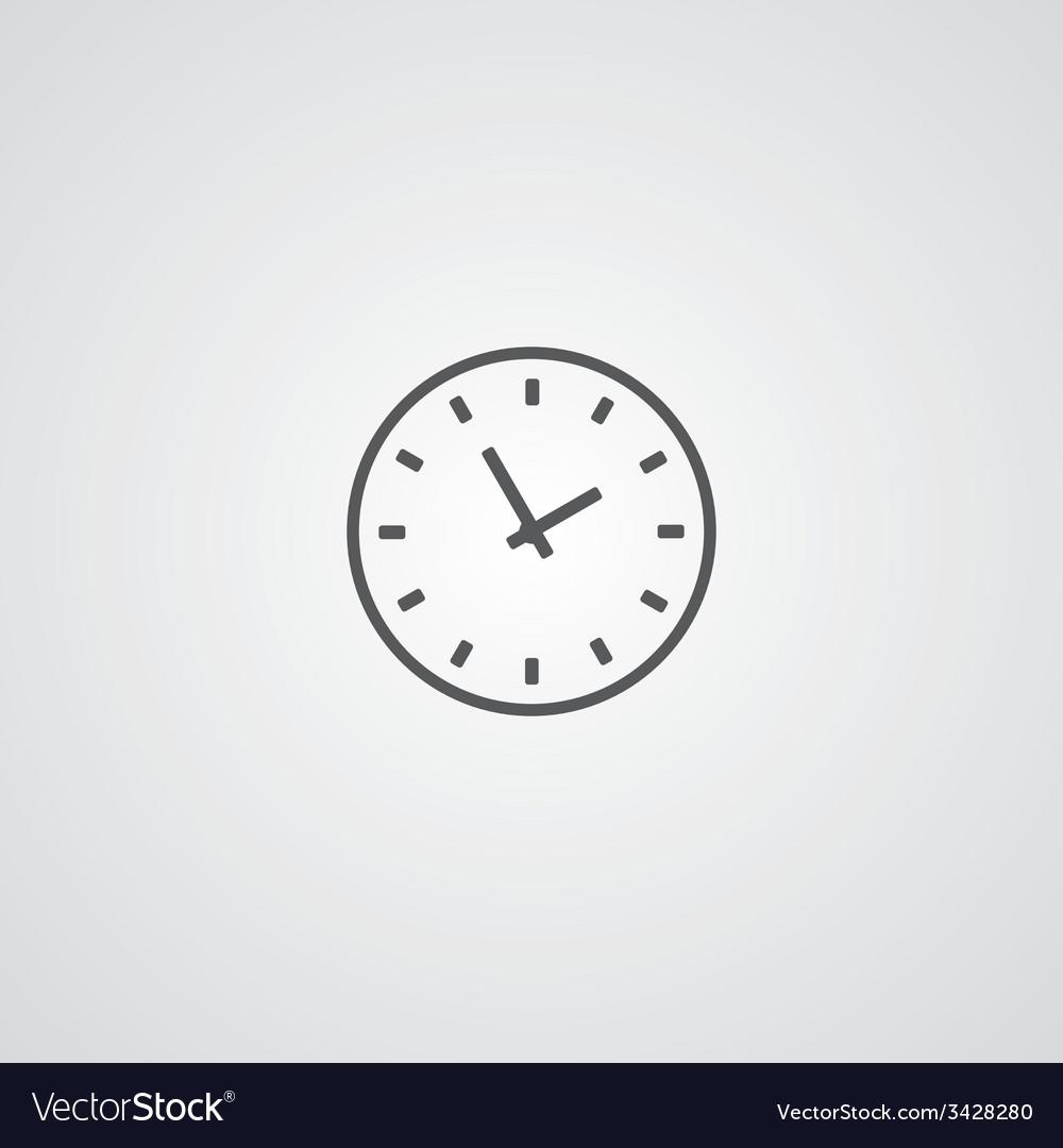 Time outline symbol dark on white background logo vector | Price: 1 Credit (USD $1)