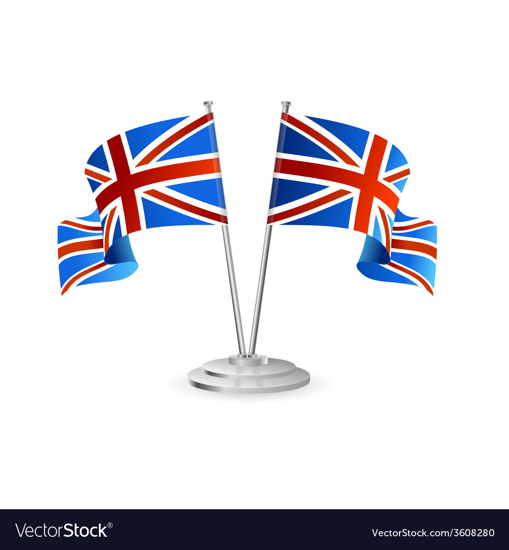Uk table flag isolated vector | Price: 1 Credit (USD $1)