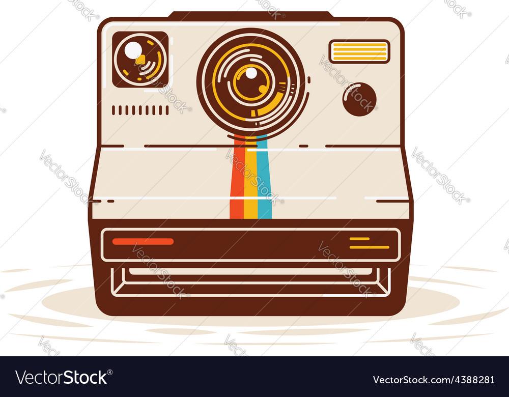 Classic instant camera vector   Price: 1 Credit (USD $1)