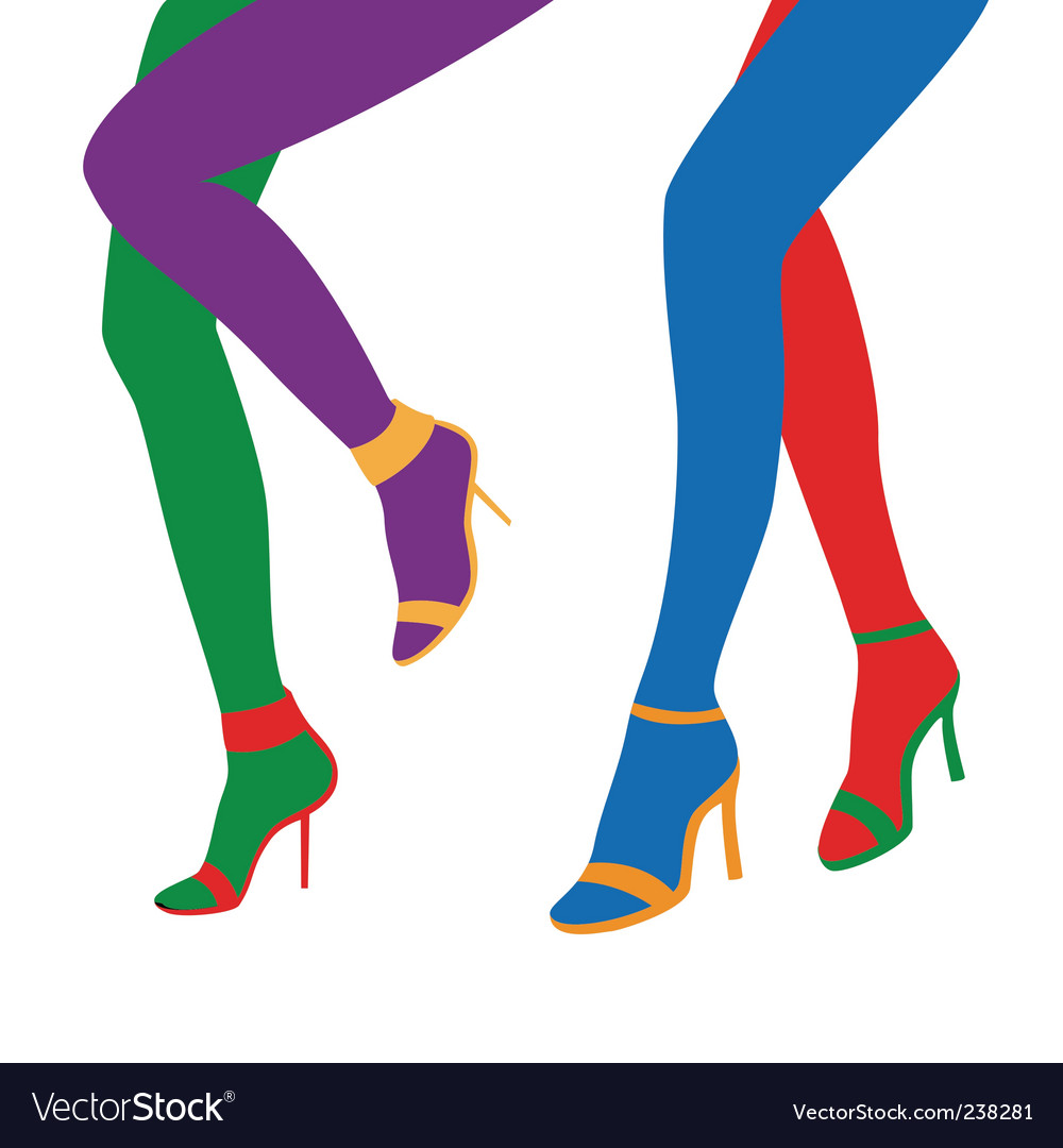 Disco legs vector | Price: 1 Credit (USD $1)