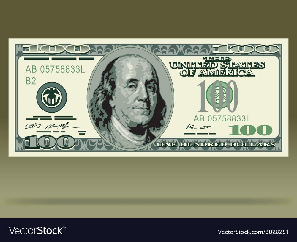 Dollar bank note vector | Price: 1 Credit (USD $1)