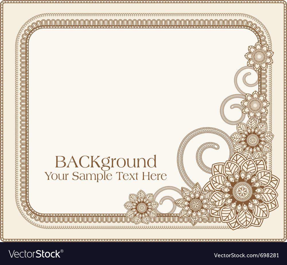 Floral patterns frame vector | Price: 1 Credit (USD $1)