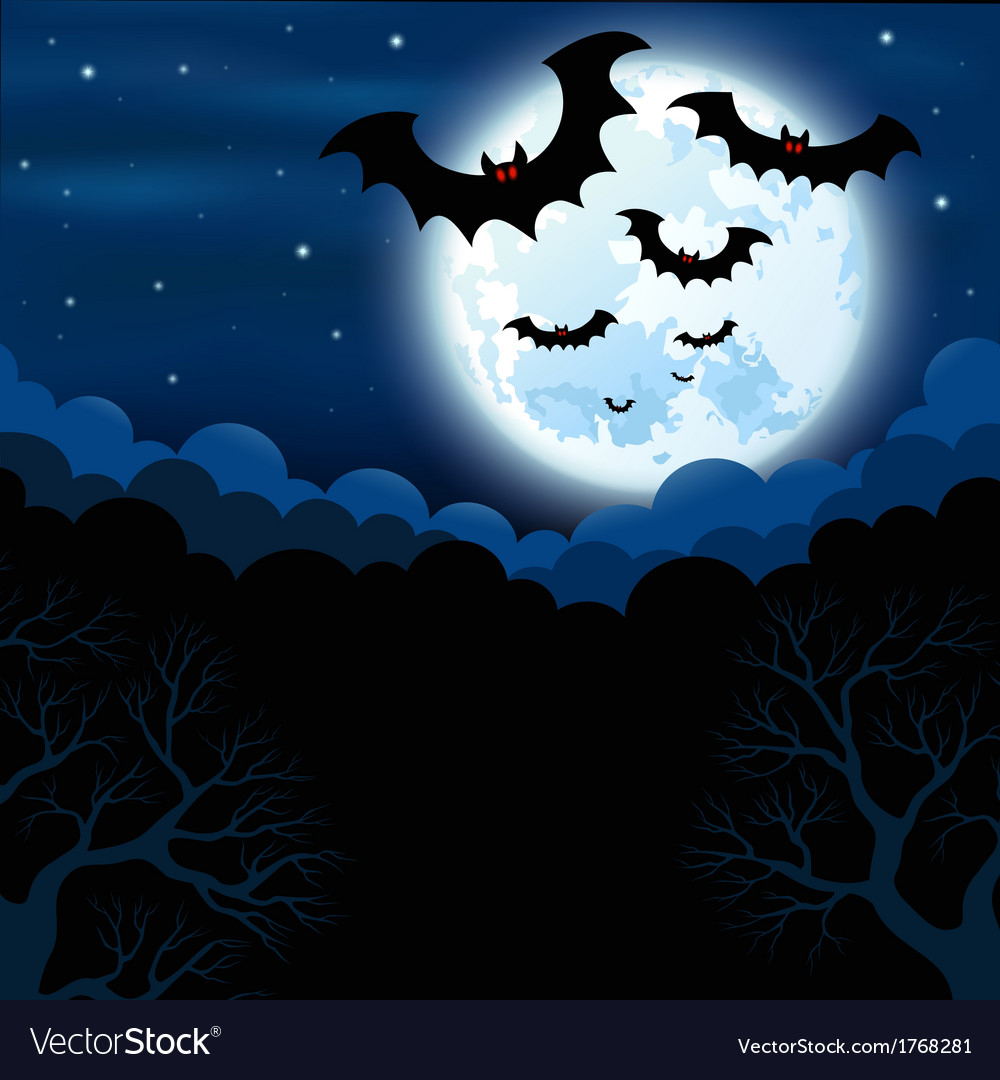 Full moon in the halloween vector | Price: 1 Credit (USD $1)