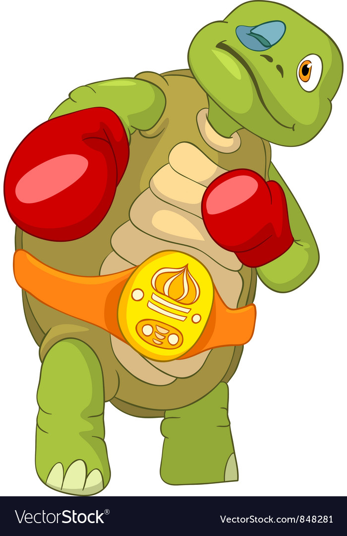 Funny turtle boxer vector | Price: 3 Credit (USD $3)