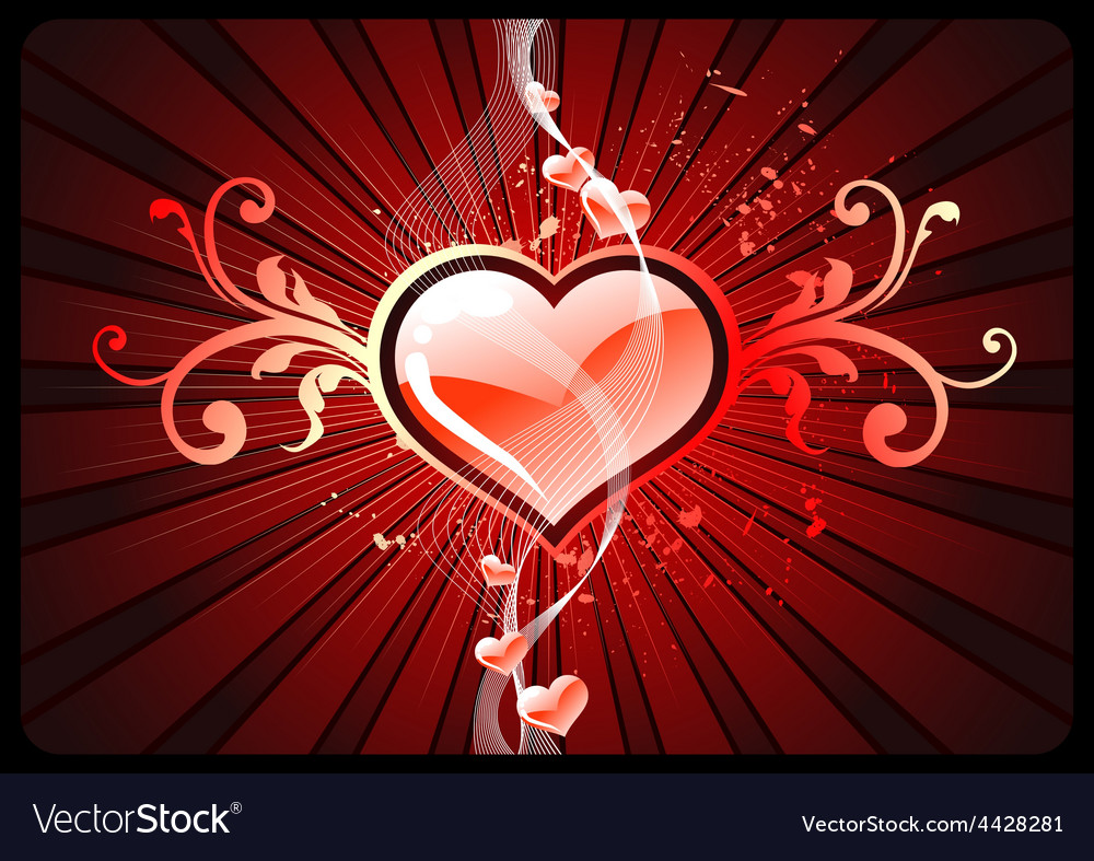 Glowing hearts vector   Price: 1 Credit (USD $1)