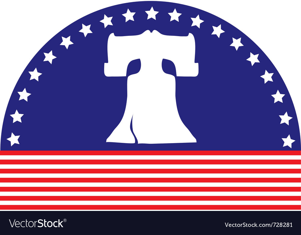Liberty bell flag vector | Price: 1 Credit (USD $1)