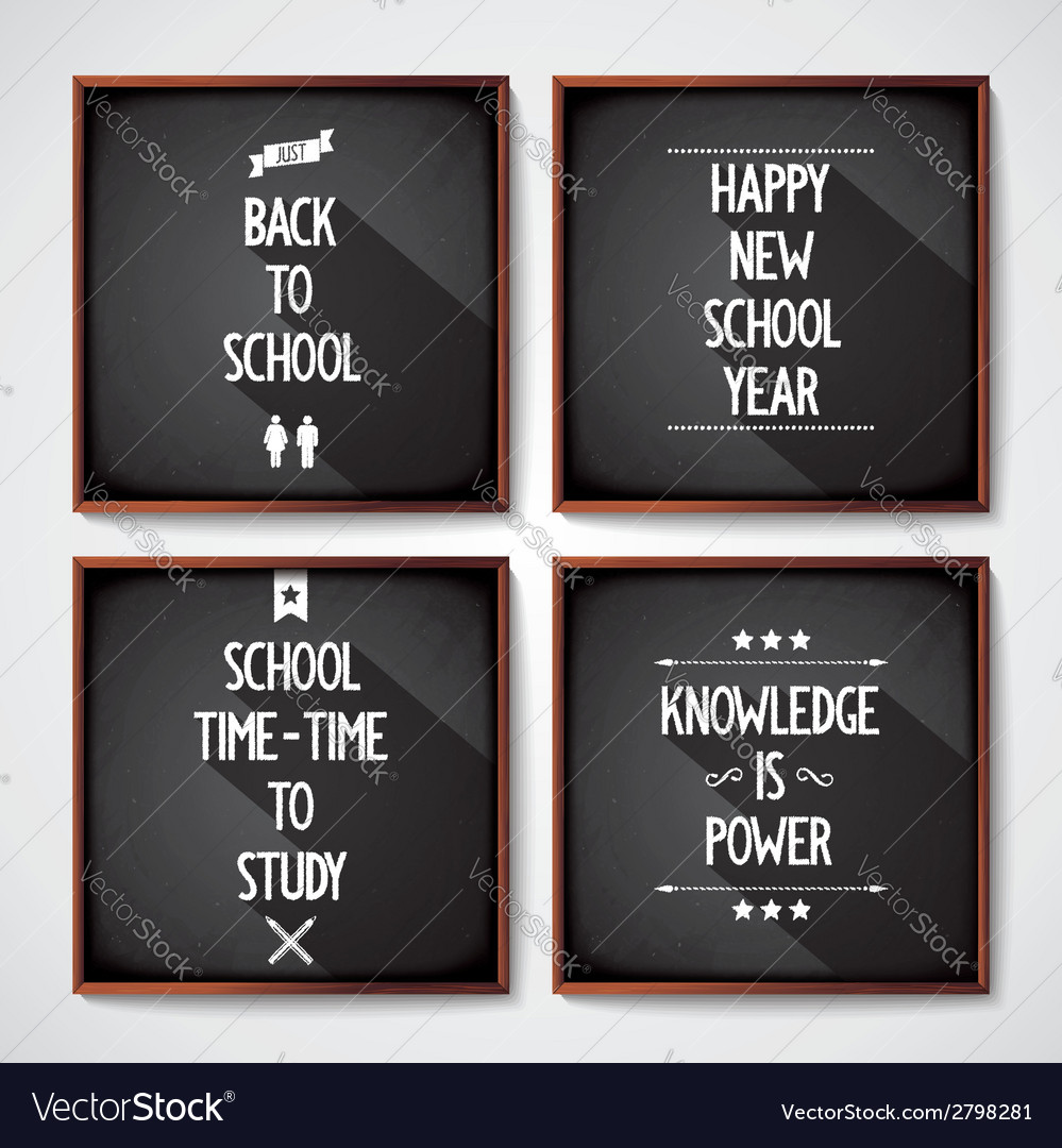 School blackboard lettering vector | Price: 1 Credit (USD $1)