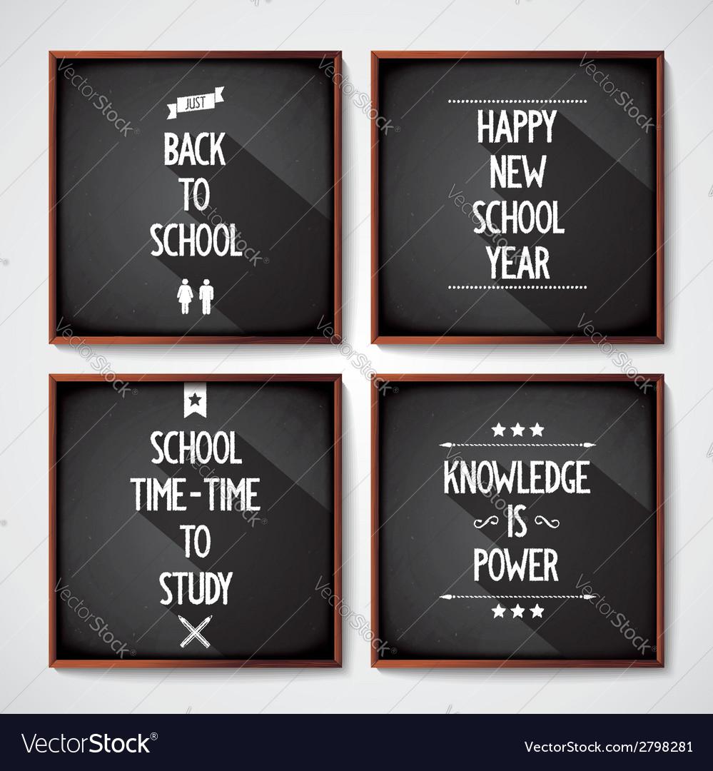 School blackboard lettering vector   Price: 1 Credit (USD $1)
