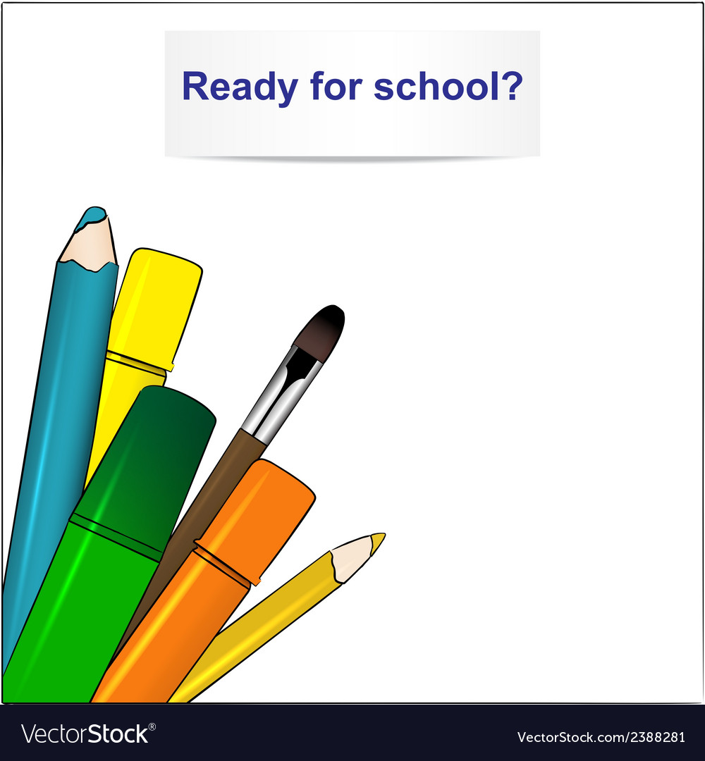 School supplies vector | Price: 1 Credit (USD $1)