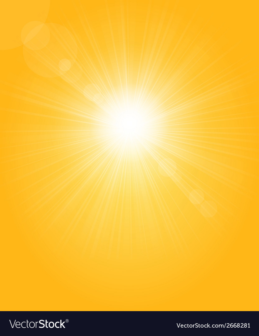 Sun flare and rays copy vector | Price: 1 Credit (USD $1)