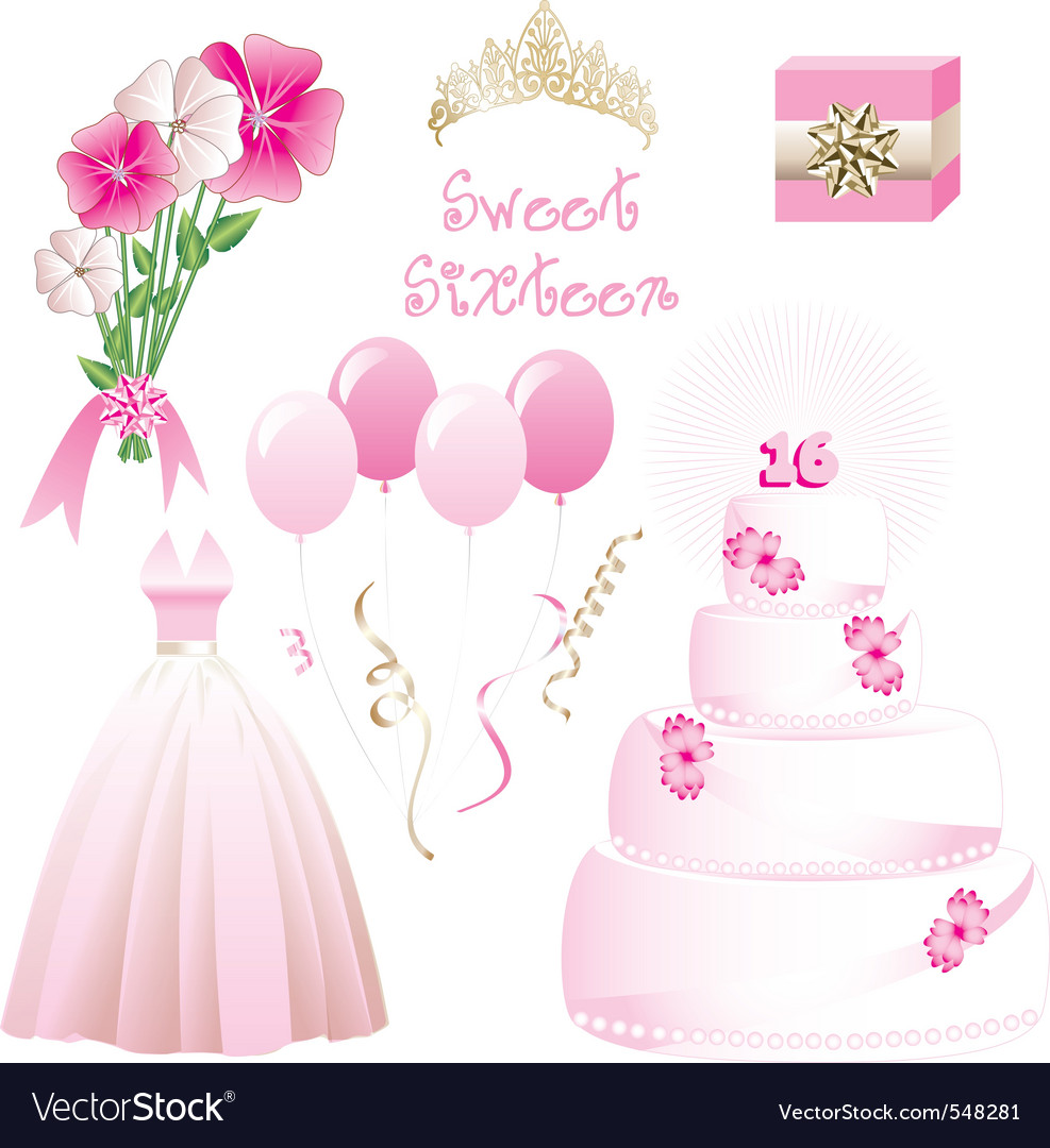 Sweet sixteen vector | Price: 1 Credit (USD $1)