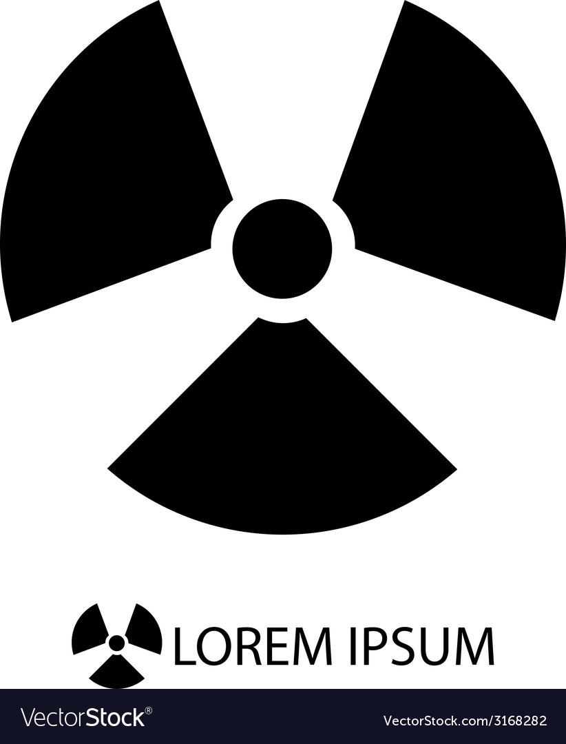 Black radiation sign vector | Price: 1 Credit (USD $1)