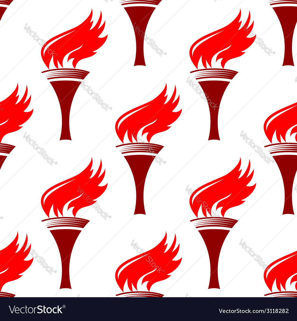 Flaming torches seamless background pattern vector | Price: 1 Credit (USD $1)