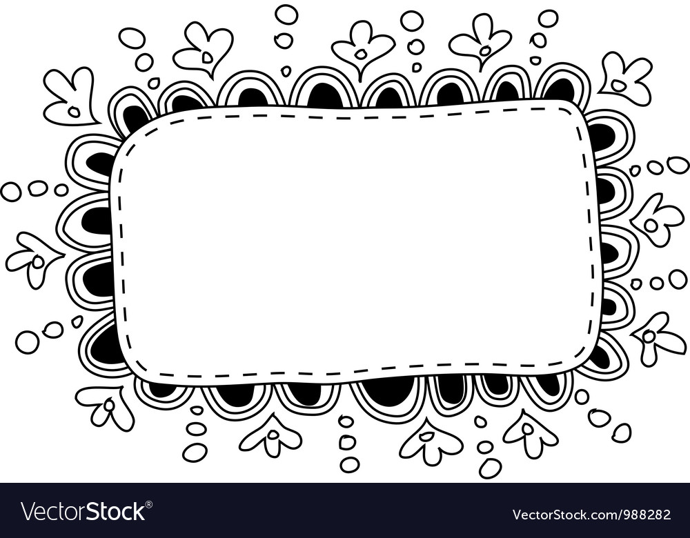 Hand made doodle frame vector | Price: 1 Credit (USD $1)