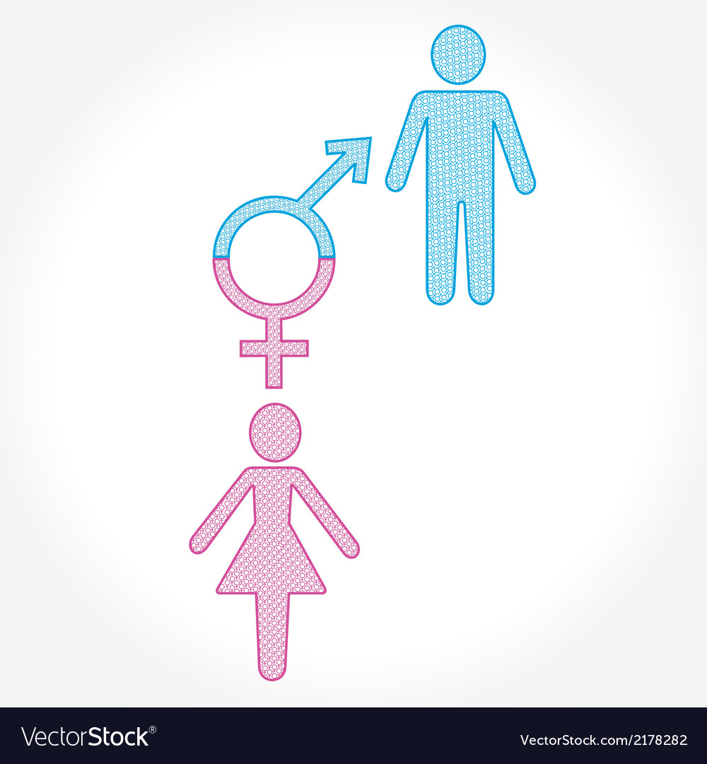 Male and female show equality concept vector | Price: 1 Credit (USD $1)