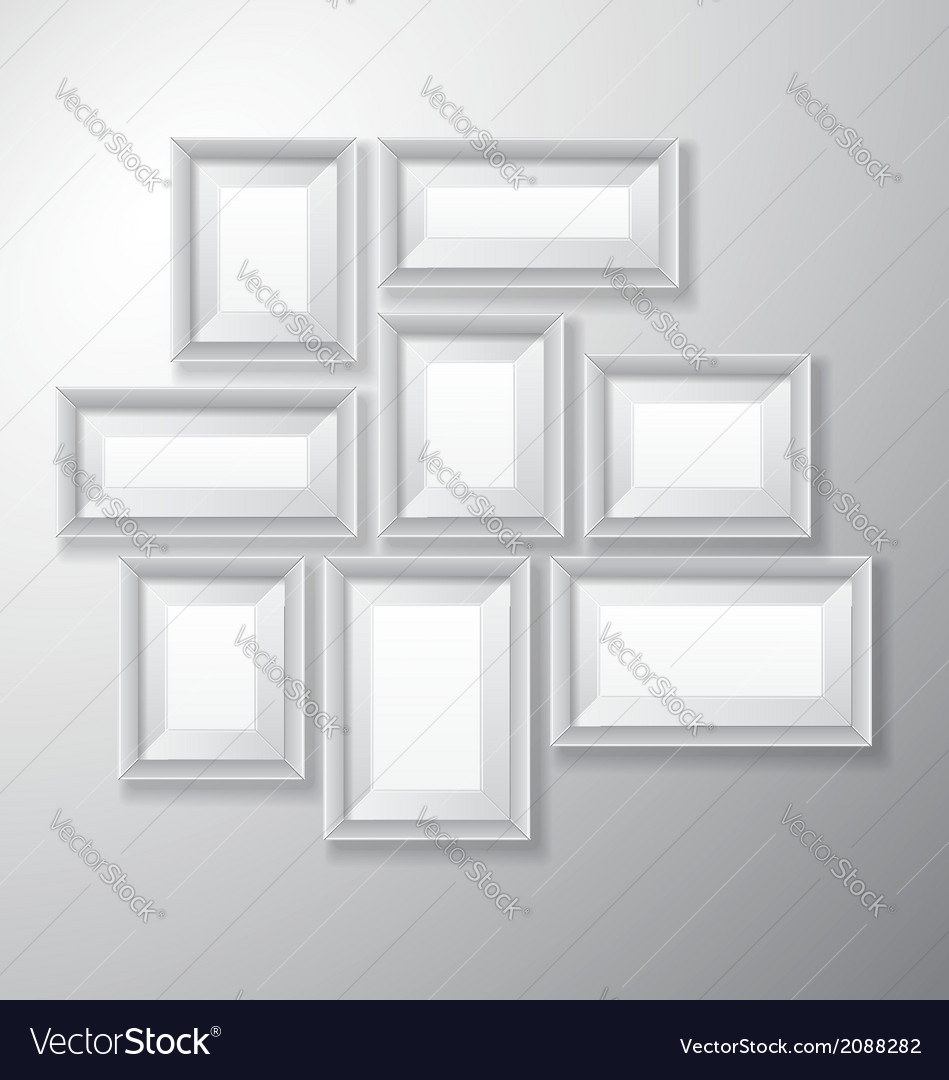 Picture frames white variety vector | Price: 1 Credit (USD $1)