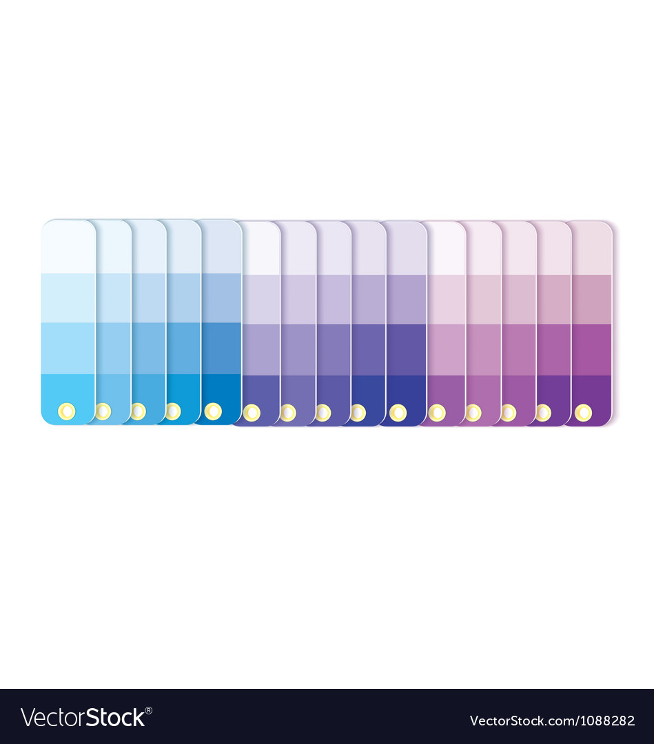 Swatches with tints in row vector | Price: 1 Credit (USD $1)