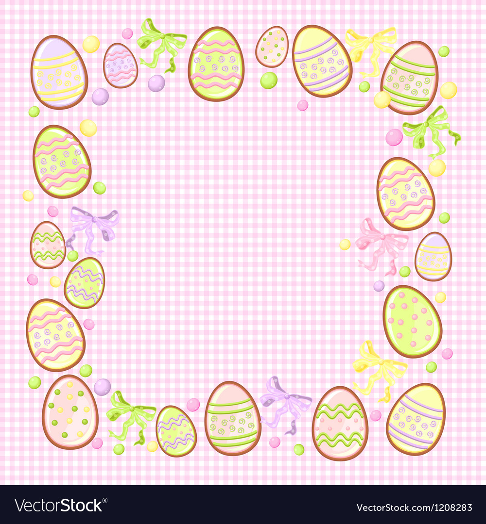Background for messages with egg rose vector | Price: 1 Credit (USD $1)