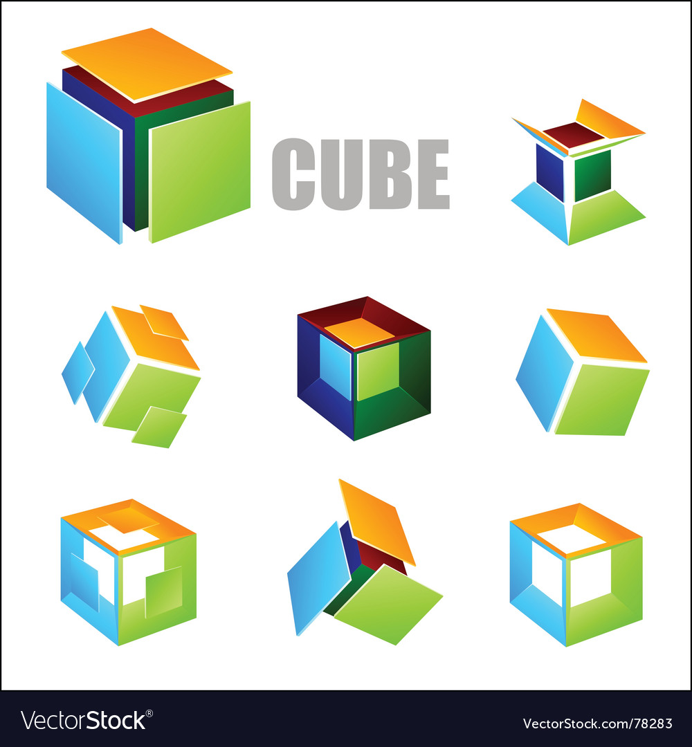 Cube elements vector | Price: 1 Credit (USD $1)