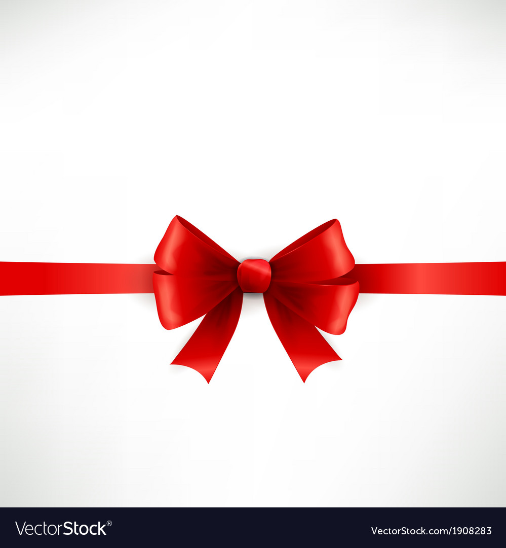 Elegant red ribbon and bow vector   Price: 1 Credit (USD $1)